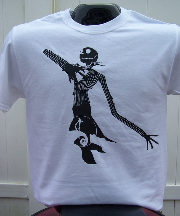 Jack from Nightmare Before Christmas Silhouette T-Shirt