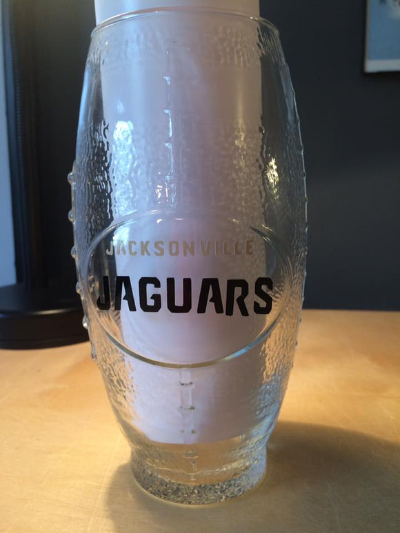 NFL Jacksonville Jaguars Football Glass