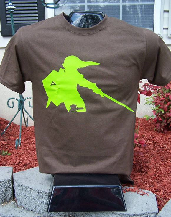 Link from Zelda Silhouette T-Shirt