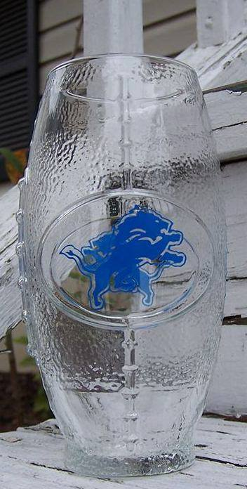 NFL Detroit Lions Football Glass