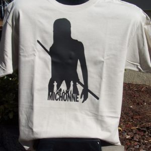 Michonne Silhouette Tshirt from the Walking Dead