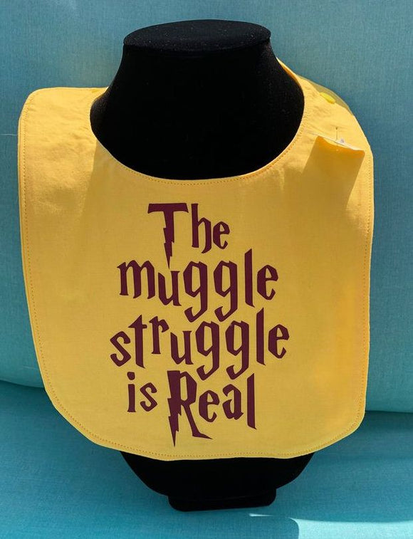 Harry Potter The Muggle Struggle is Real Baby Bib