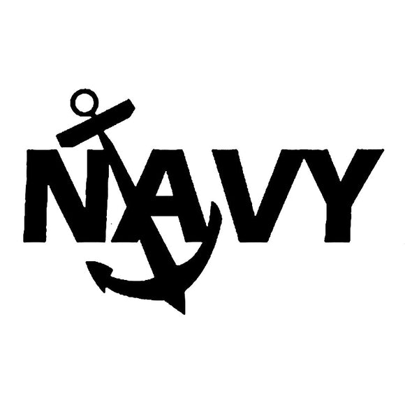Navy Vinyl Decal
