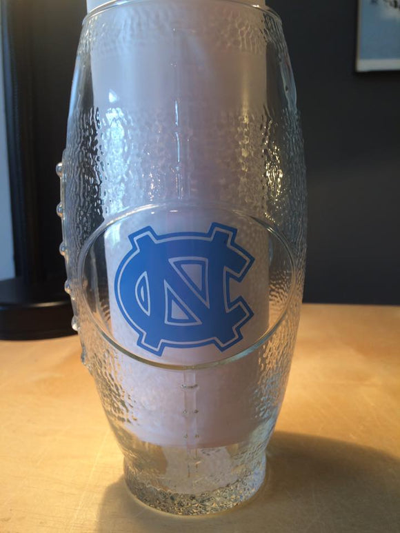 NC State Football Glass