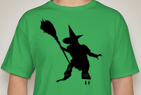 Wizard of Oz- Wicked Witch Silhouette T-Shirt