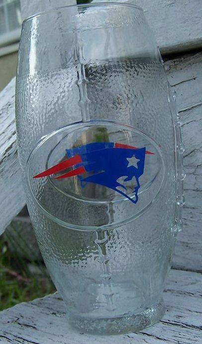 NFL Football Glass: New England Patriots