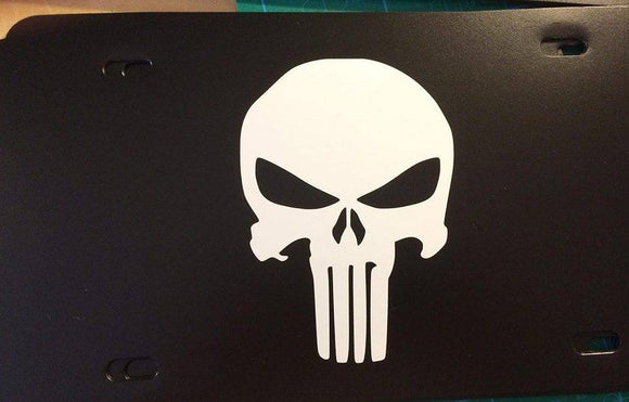 Punisher Logo License Plate