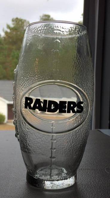 NFL Oakland Raiders Football Glass