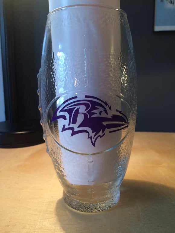 NFL Baltimore Ravens Football Glass