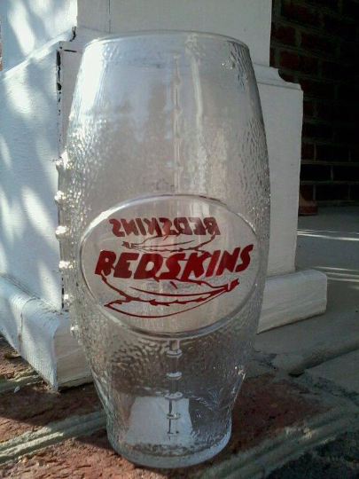 NFL Washington Redskins Football Glass