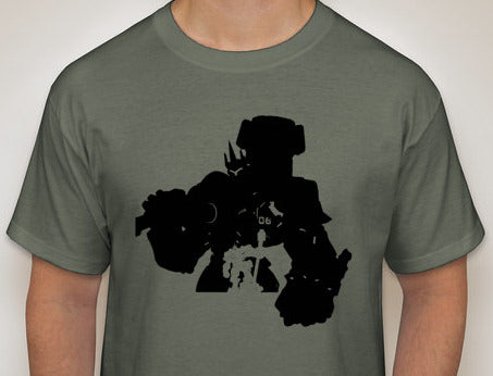 Reinhardt from Overwatch Custom Silhouette Shirt