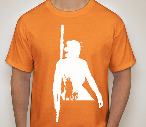 Star Wars: The Force Awakens- Rey SIlhouette T-Shirt