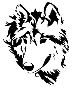 Wolf Head Vinyl Decal
