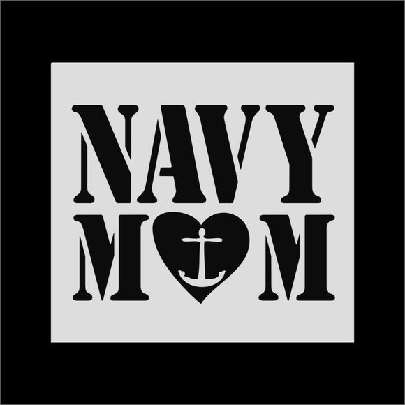 Navy  Mom Vinyl Decal