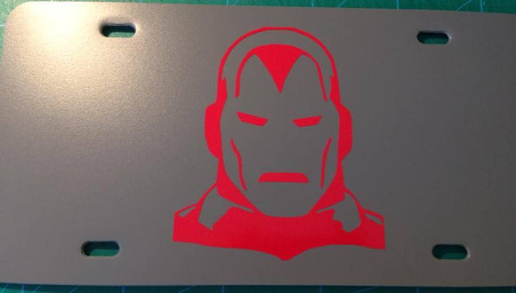 Iron Man Silver Centurion License Plate