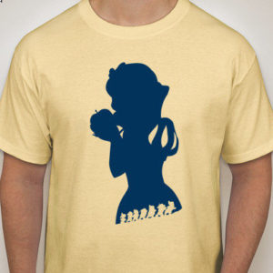Snow White Custom Silhouette T-Shirt