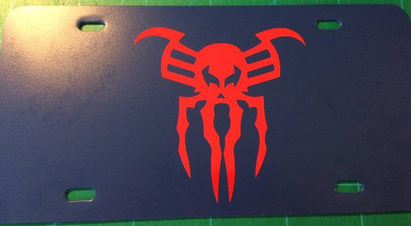 Spiderman 2099 Logo License Plate
