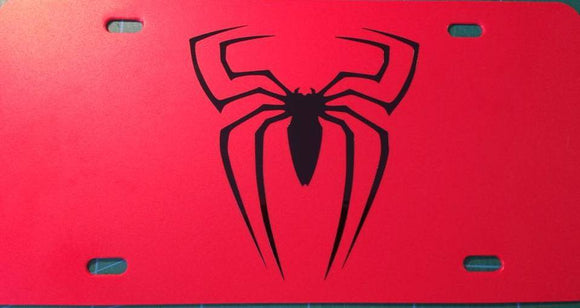 Spiderman Logo License Plate