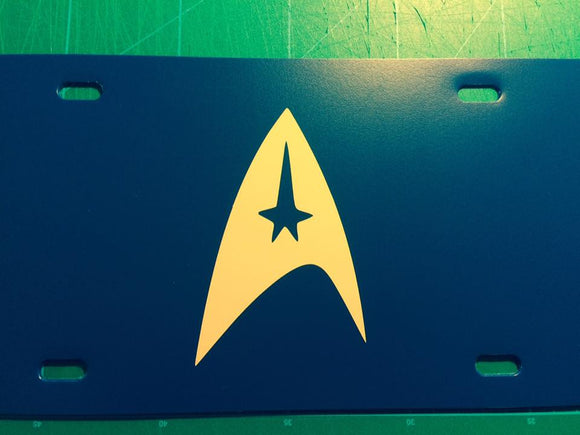 Star Trek Logo License Plate