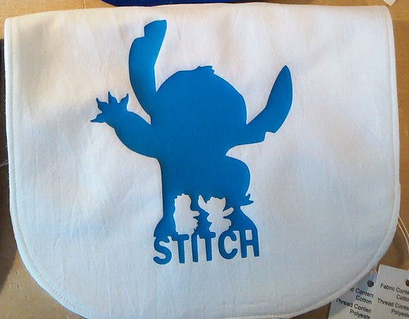 Handmade Bib: Lilo and Stitch Silhouette