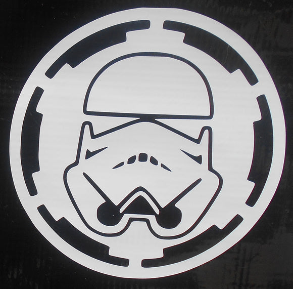 Storm Trooper with Galactic Logo Vinyl Decal