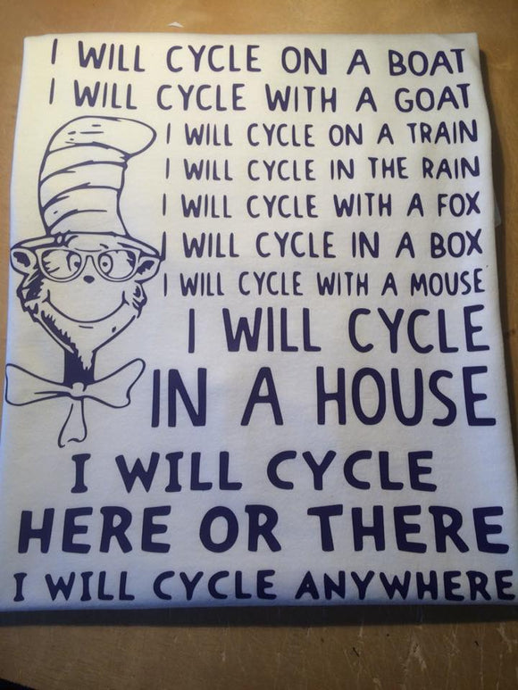 Dr. Seuss I Will Cycle T-Shirt