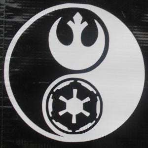 Star Wars Ying Yang Vinyl Decal