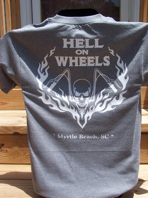 Southern Yankee Motorcycles- Hell On Wheels Custom T-Shirt