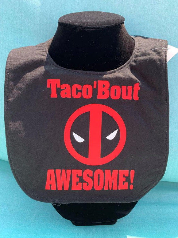 Taco Bout' Awesome Deadpool Baby Bib