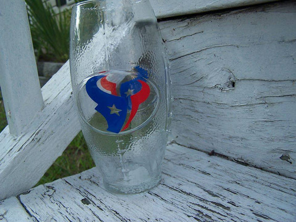 NFL Houston Texans Football Glass