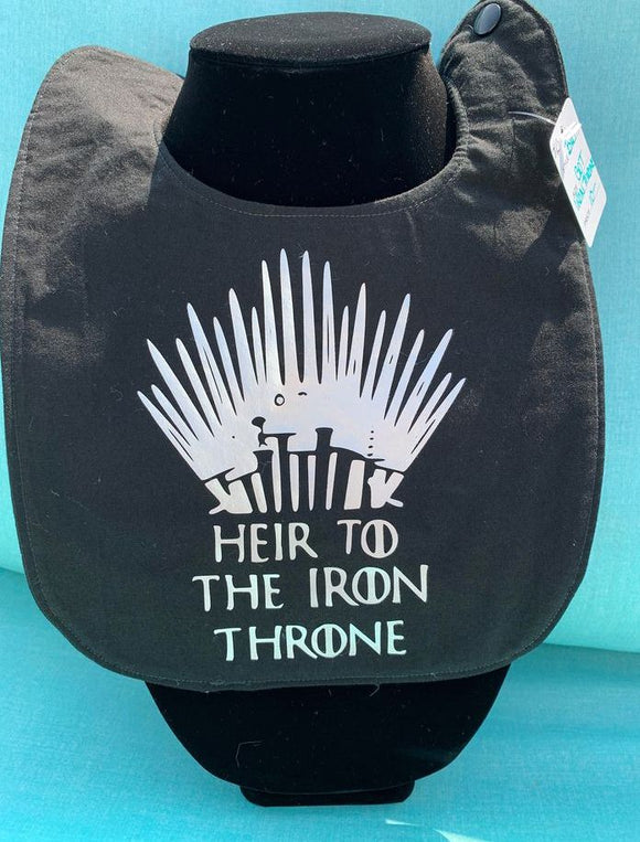 Game of Thrones: Heir to the Iron Throne Baby Bib