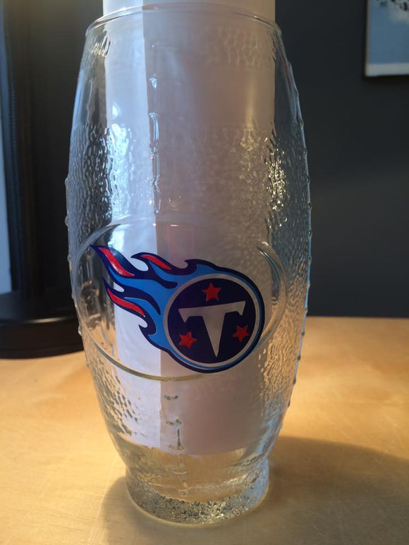 NFL Tennessee Titans Football Glass