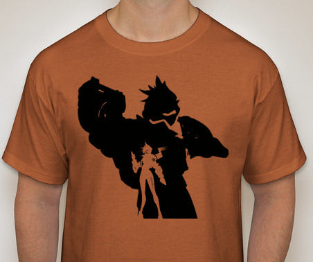 Tracer from Overwatch Custom Silhouette Tshirt