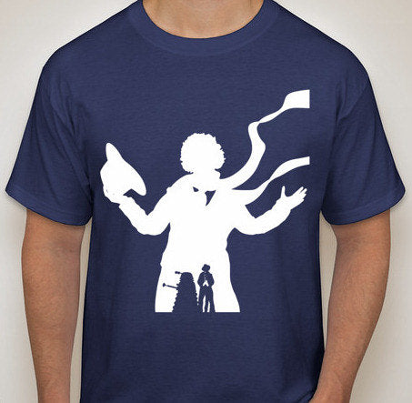 4th Dr. Who with Dalek Silhouette T-Shirt