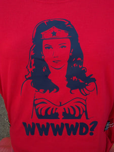 What Would Wonder Woman Do? Silhouette T-shirt