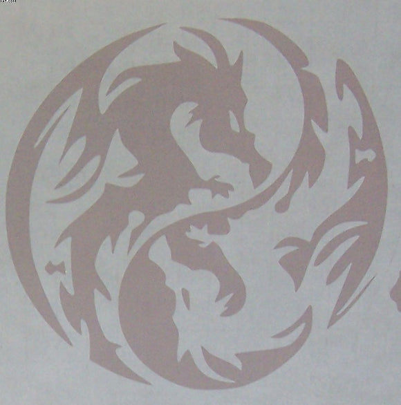 Ying Yang Dragon sticker