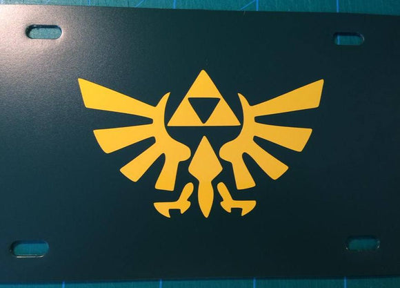 Zelda Logo License Plate