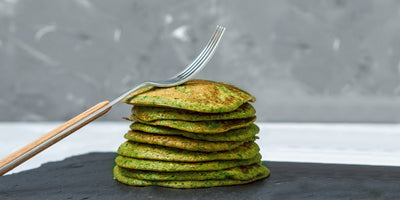 flourless green goodness pancakes