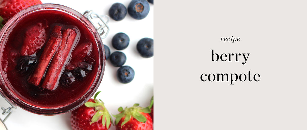strawberry and blueberry compote