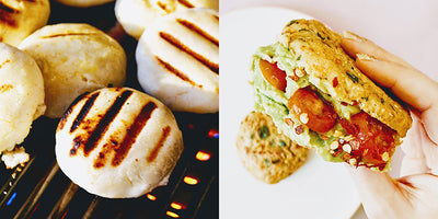 make your own vegan arepas