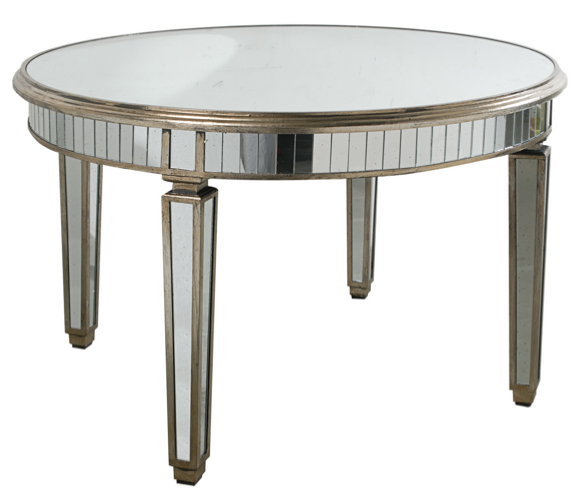 Round Mirrored Dining Table Wisteria Homeware and Living
