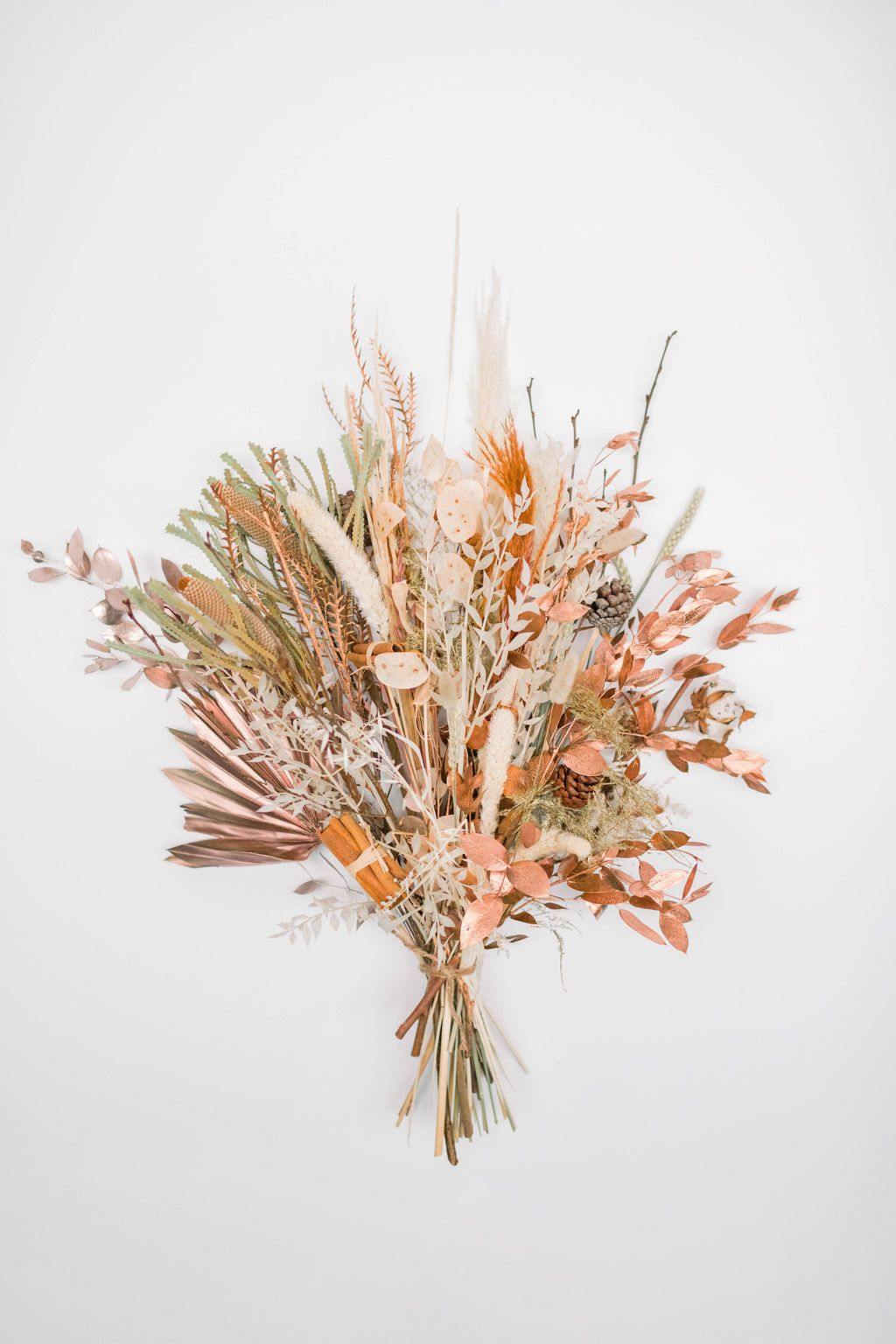 COPPER MOON LARGE DRIED HANDTIED BOUQUET