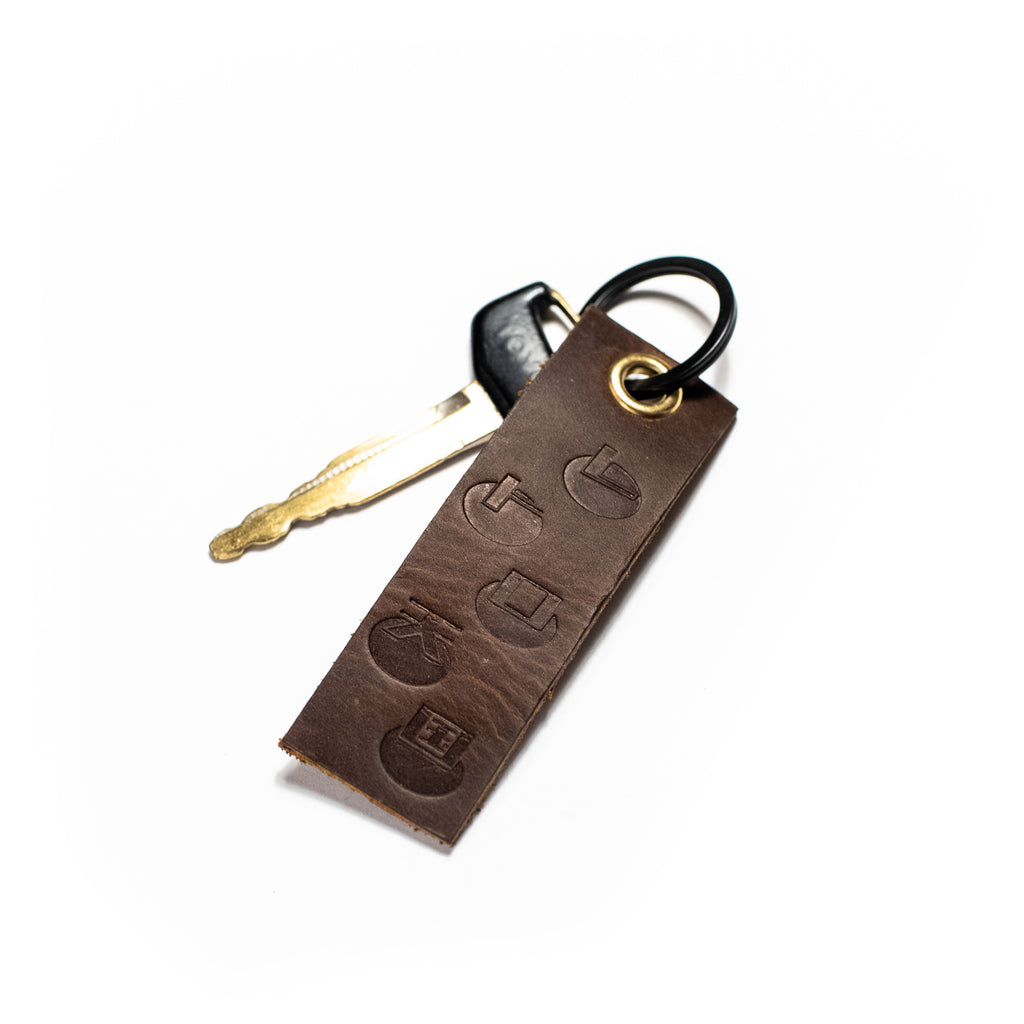 Leather Key Tag Bourbon Brown