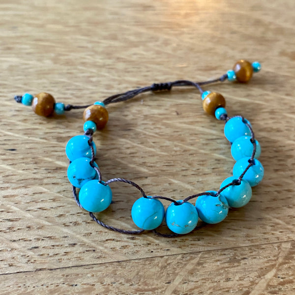 Turquoise Blue Counting Bracelet