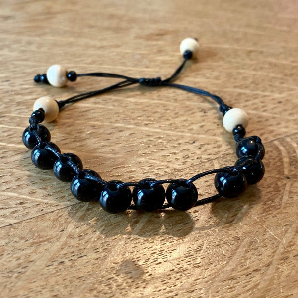 Black Tourmaline Counting Bracelet