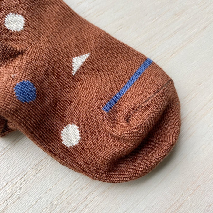 Organic Cotton Socks - Brick Red