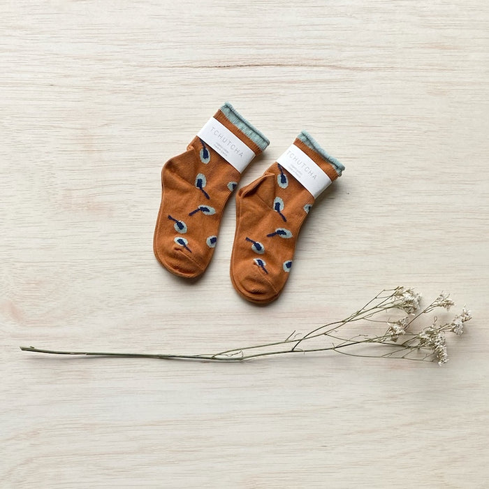 Organic Cotton Socks - Papaya