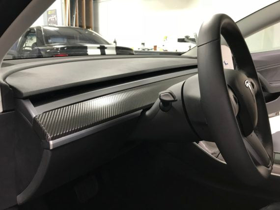 Tesla Model 3 Dash Wrap Overlay