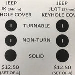 Jeep Keyhole Covers