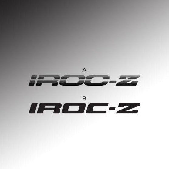 IROC-Z Door Decals